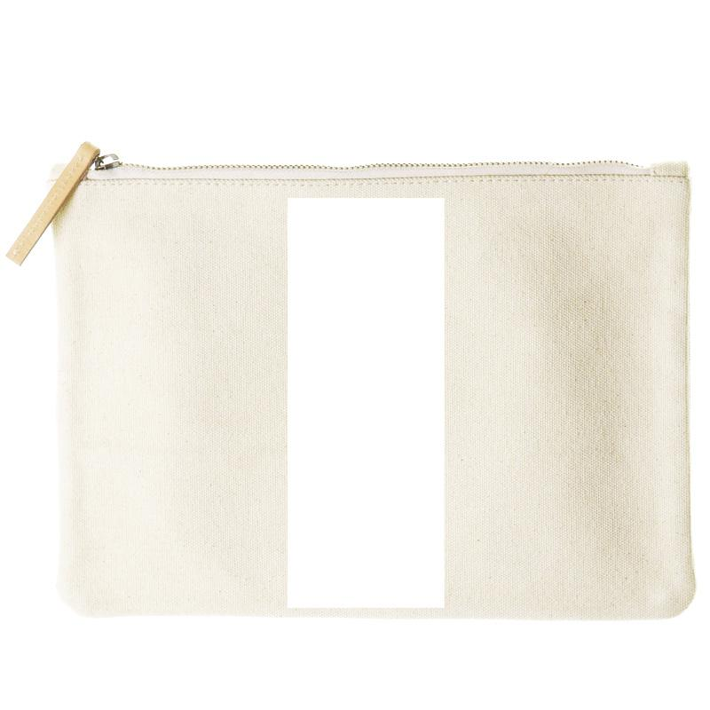 mimi flat clutch- bold stripe white