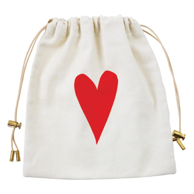 Cables and Chargers Pouch Natural-Red Heart