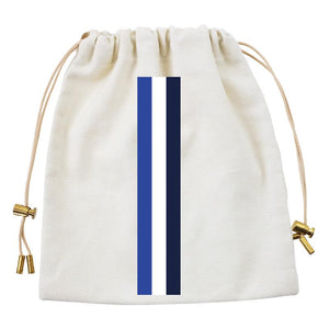 Cables and Chargers Pouch Natural-Thin Surf Stripe Blue