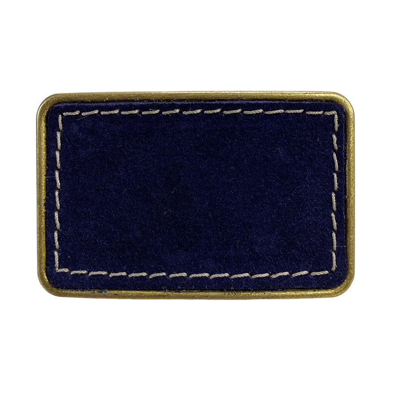 Jackie Belt Buckle-navy suede