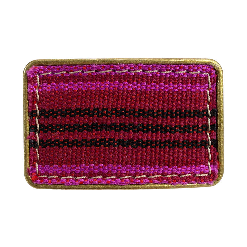 Jackie Belt Buckle-one of kind blanket pattern berry