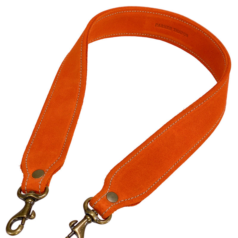 Jackie Suede Orange Over the Shoulder Strap