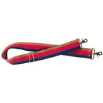 Crossbody Strap-Surfer Stripe Pink- Navy, Pink, Red, and Khaki