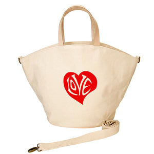 Kiki Bag - Natural -Red Heart- Natural Web Strap