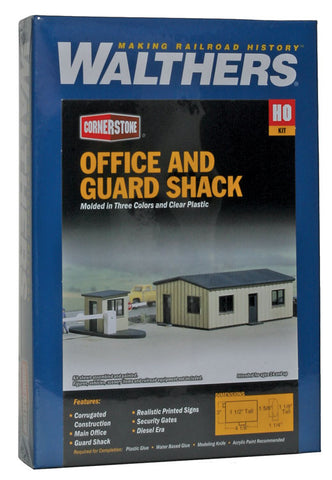 HO Scale Walthers Cornerstone 933-3517 Office & Guard Shack Kit