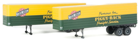 HO Scale Walthers SceneMaster 949-2413 Chicago & North Western 35' Trailers