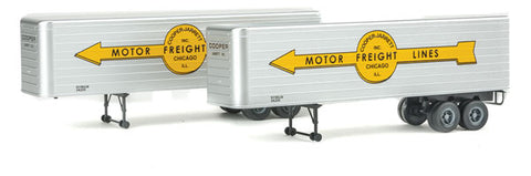 HO Scale Walthers SceneMaster 949-2415 Cooper Jarrett Fluted-Side 35' Trailers