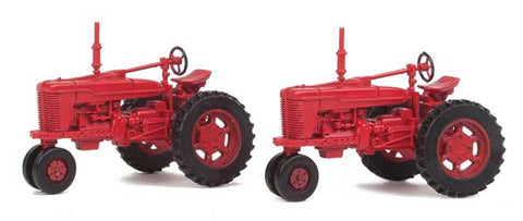 HO Scale Walthers Scene Master 949-4160 Red Farm Tractor 2-Pack