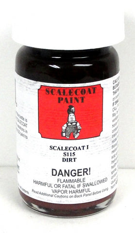 Scalecoat I S1115 Dirt Weathering Color 2 oz Enamel Paint Bottle