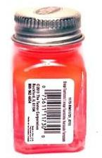 Testors 1173 Fluorescent Orange Enamel 1/4 oz Paint Bottle