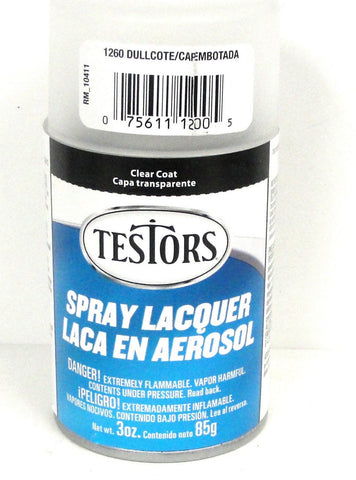 Testors 1260 Dullcote Lacquer 3 oz Spray Paint Can