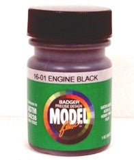 Badger Model Flex 16-01 Engine Black 1 oz Acrylic Paint Bottle