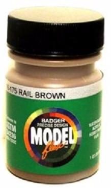 Badger Model Flex 16-175 Rail Brown 1 oz Acrylic Paint Bottle