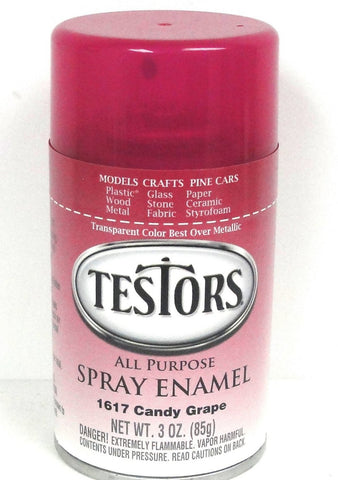 Testors 1617 Candy Grape Enamel 3 oz Spray Paint Can