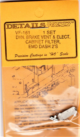HO Scale Details West VF-161 EMD Dash-2 Vent & Electrical Cabinet Set