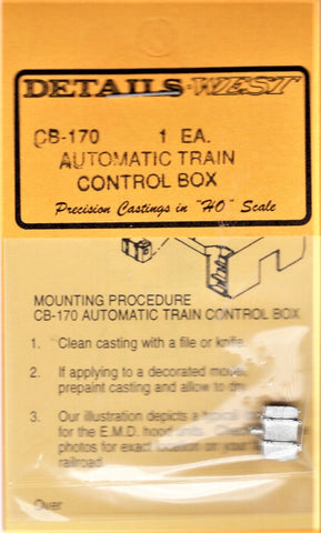HO Scale Details West CB-170 Automatic Train Control Box for Hood Units 2-Strap