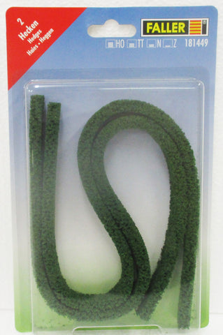 HO Scale Faller Gmbh 181449 Green Hedge (2) pcs