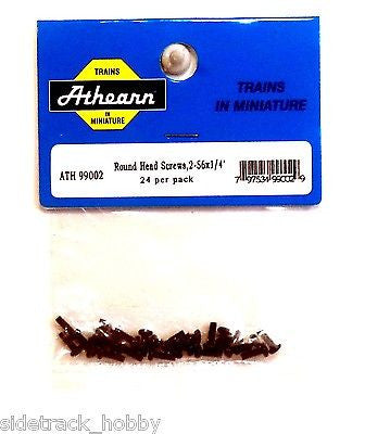 "HO Scale Athearn 99002 Round Head Screw, 2-56 x 1/4"" (24) pcs"