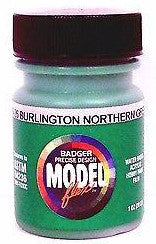 Badger Model Flex 16-26 BN Burlington Northern Green 1 oz Acrylic Paint Bottle