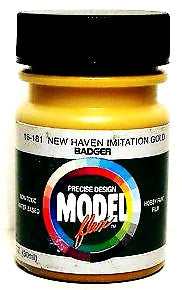 Badger Model Flex 16-181 New Haven Imitation Gold 1 oz Acrylic Paint Bottle