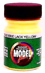Badger Model Flex 16-52 EL Erie Lackawanna Yellow 1 oz Acrylic Paint Bottle
