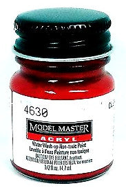 Model Master 4630 Clear Red 1/2 oz Acrylic Paint Bottle