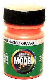 Badger Model Flex 16-157 SLSF Frisco Orange 1 oz Acrylic Paint Bottle