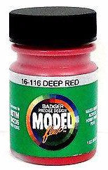 Badger Model Flex 16-116 Deep Red 1 oz Acrylic Paint Bottle