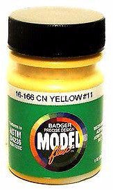 Badger Model Flex 16-166 CN Canadian National Yellow #11 1 oz Acrylic Paint