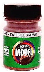 Badger Model Flex 16-45 MILW Milwaukee Road Brown 1 oz Acrylic Paint Bottle