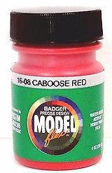 Badger Model Flex 16-08 Caboose Red 1 oz Acrylic Paint Bottle
