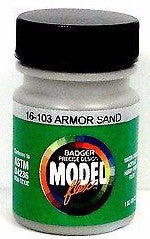 Badger Model Flex 16-103 Armor Sand 1 oz Acrylic Paint Bottle