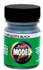 Badger Model Flex 16-106 Gloss Black 1 oz Acrylic Paint Bottle