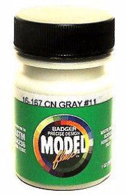 Badger Model Flex 16-167 CN Canadian National Gray #11 1 oz Acrylic Paint Bottle