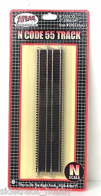 "N Scale Atlas 2002 Code 55 6"" Straight Track 6 pcs"