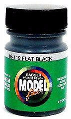 Badger Model Flex 16-119 Flat Black 1 oz Acrylic Paint Bottle