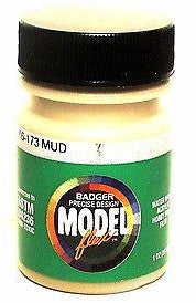 Badger Model Flex 16-173 Mud 1 oz Acrylic Paint Bottle