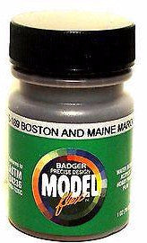 Badger Model Flex 16-189 B&M Boston & Maine Maroon 1 oz Acrylic Paint Bottle