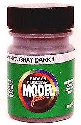 Badger Model Flex 16-27 NYC New York Central Gary Dark #1 1 oz Acrylic Paint