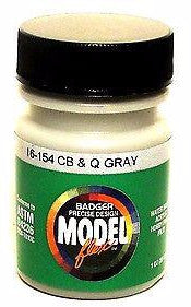 Badger Model Flex 16-154 CB&Q Burlington Gray 1 oz Acrylic Paint Bottle