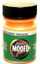 Badger Model Flex 16-152 BNSF Orange 1 oz Acrylic Paint Bottle