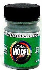 Badger Model Flex 16-96 Olive Drab FSC34097 1 oz Acrylic Paint Bottle