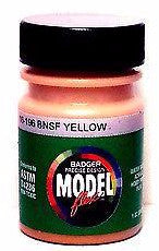 Badger Model Flex 16-196 BNSF Yellow 1 oz Acrylic Paint Bottle