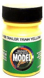 Badger Model Flex 16-168 Trailer Train Yellow 1 oz Acrylic Paint Bottle