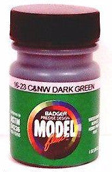 Badger Model Flex 16-23 C&NW Chicago Northwestern Dark Green 1 oz Acrylic Paint