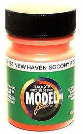 Badger Model Flex 16-183 New Haven Socony Red 1 oz Acrylic Paint Bottle