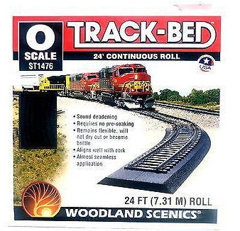 O Scale Woodland Scenics ST1476 Track-Bed 24' Continuous Roll