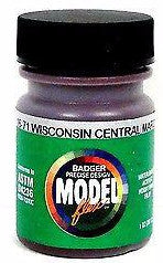 Badger Model Flex 16-71 WC Wisconsin Central Maroon 1 oz Acrylic Paint Bottle