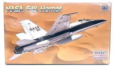 Minicraft 11656 1/72 Scale NASA F-18 Hornet Chase Plane Model Kit