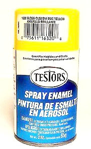 Testors 1632 Bug Yellow 3 oz Enamel Paint Spray Can